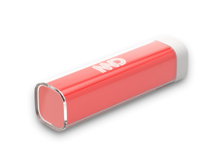 Red Halo power Bank Rear View