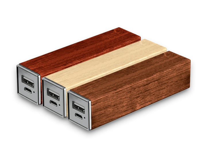 Timber Power Bank Wooden Finishes