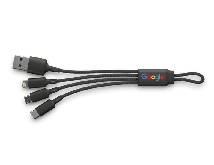 Braided 3-in-1 USB Cable