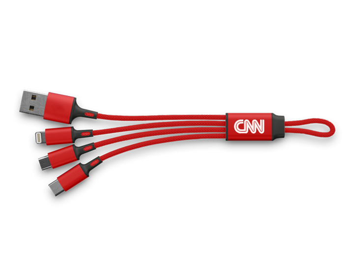 Red 3in1 USB Cable with Logo