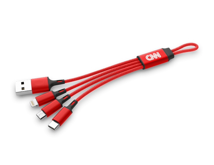 Red Braided 3in1 USB Cable