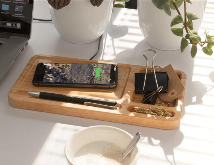 Bamboo Desk Charger