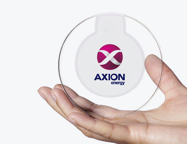 Crystal Wireless Charger in Hand