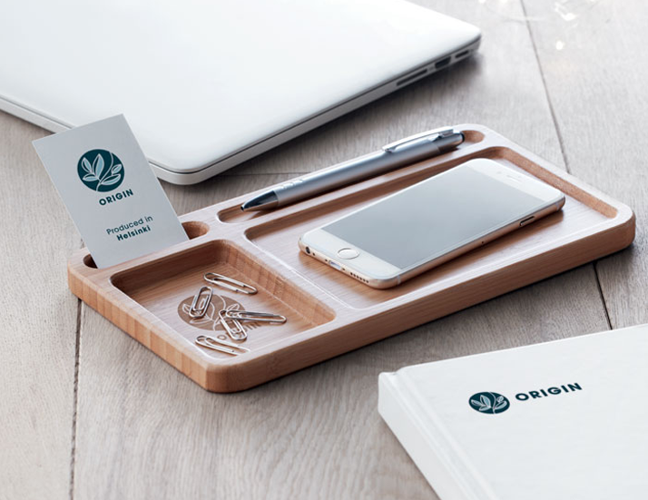 Wireless Bamboo Desk Charger