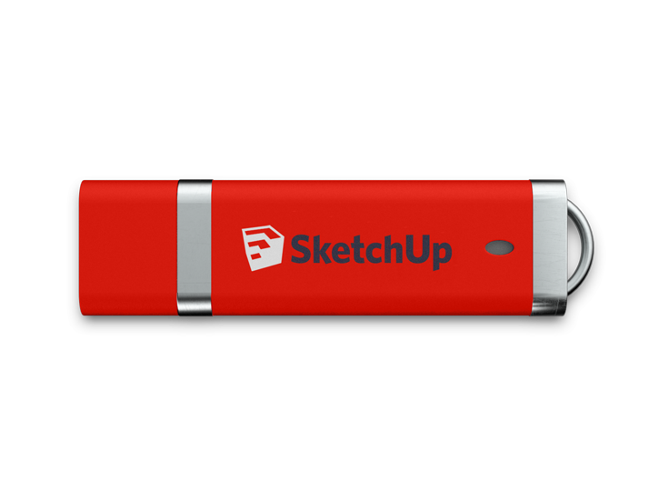 Red Slim USB Stick