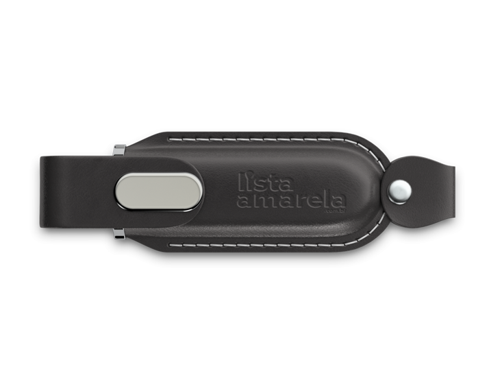 Black Leather Classic USB Drive