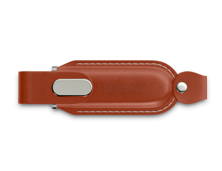 Brown Classic Leather USB Drive
