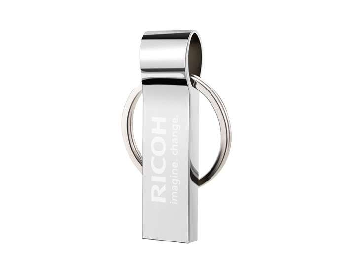 Chain USB Drive with Engraved Logo