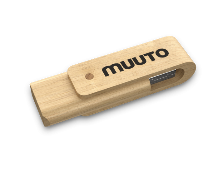 Forest Wooden USB Drive Perspective