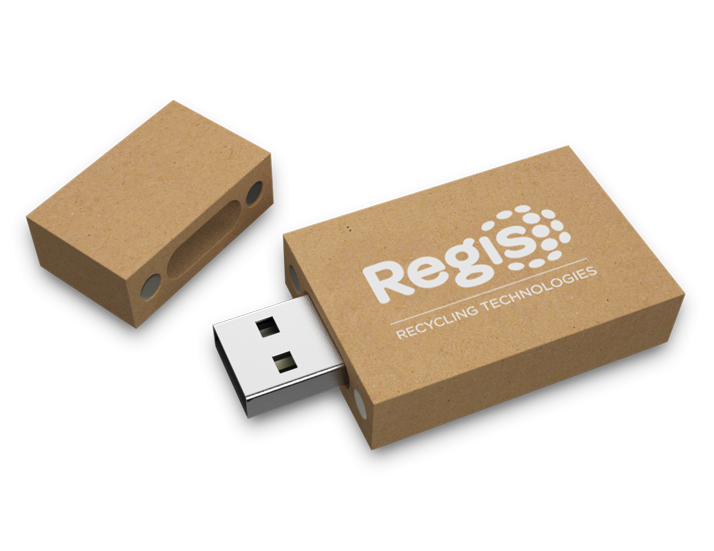 Recycled Paper USB Drive Open