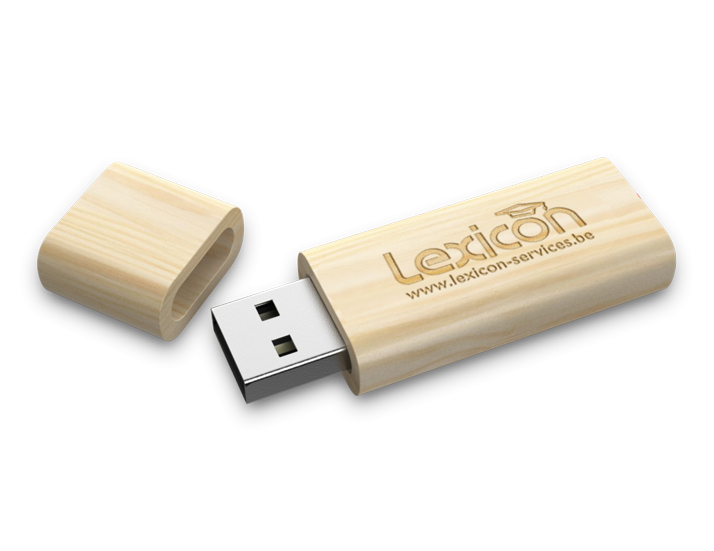 Timber Wood USB Drive Open