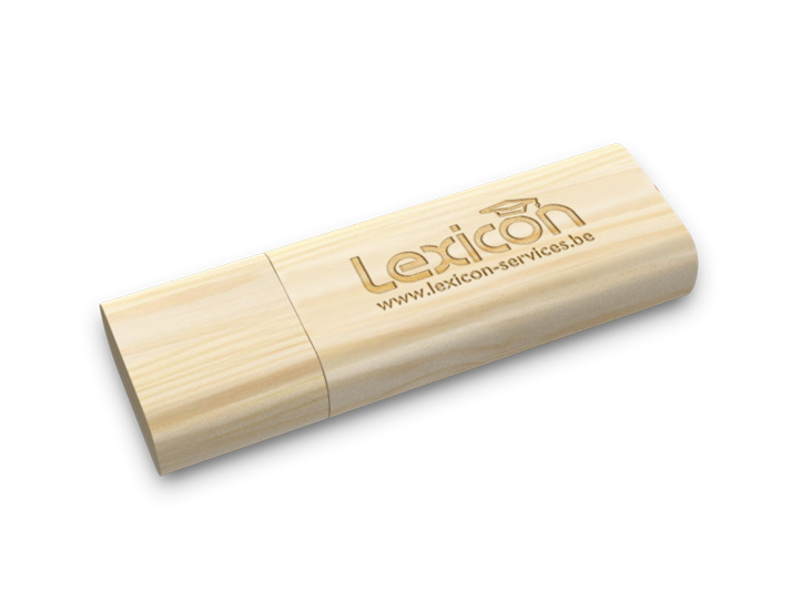 Timber Wood USB Drive Perspective