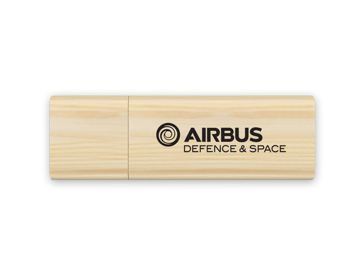 Timber Wood USB Drive with Printed Logo