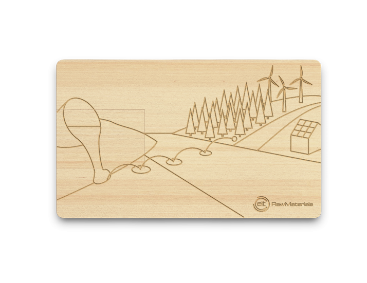 Wood USB Card with Engraved Logo