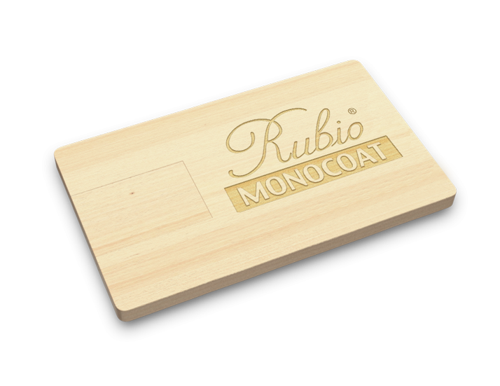 Wooden USB Card Closed