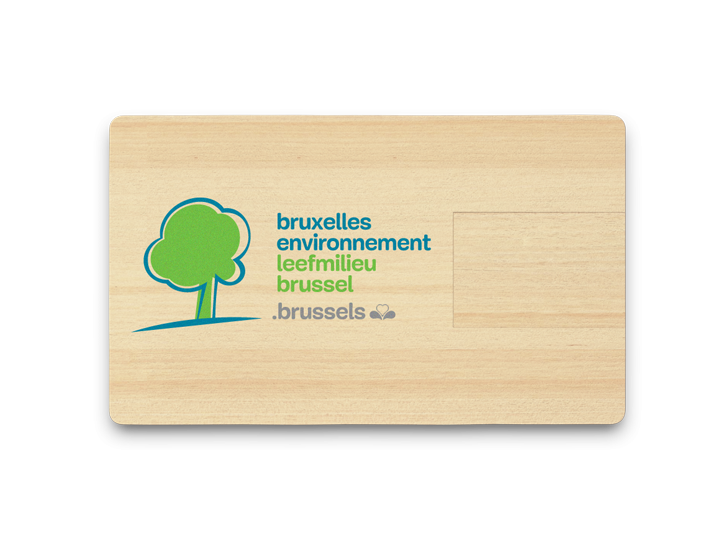 Wooden USB Card with Printed Logo