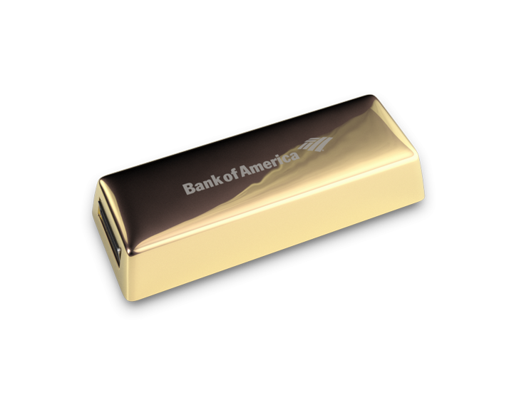 Gold Bar USB Stick Perspective