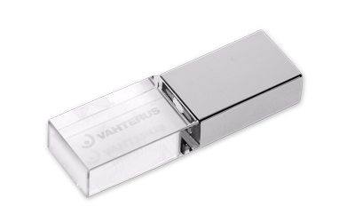 Crystal USB Drive Engraved