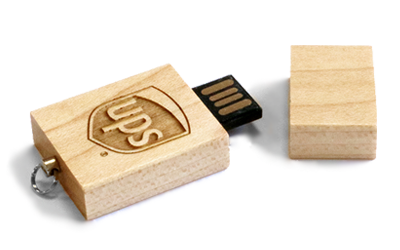 Eco Wood USB Drive Open