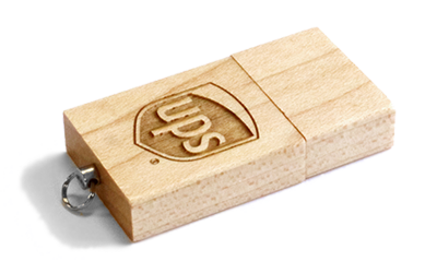 Eco Wood USB Drive Perspective