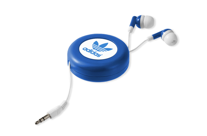 Retractable Earbuds Blue