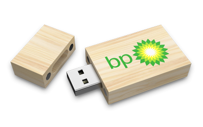 Maple Wooden USB Drive Open