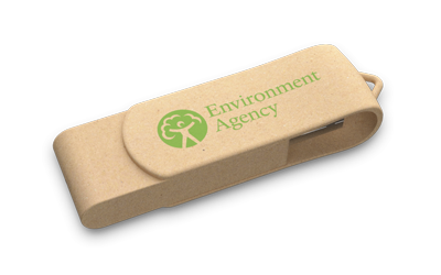 Recycled Paper Swivel USB Drive