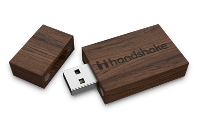 Walnut USB Drive Open