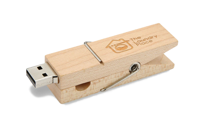 Wooden Peg USB Drive