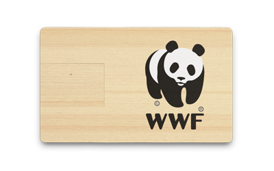 Wooden USB Card Front