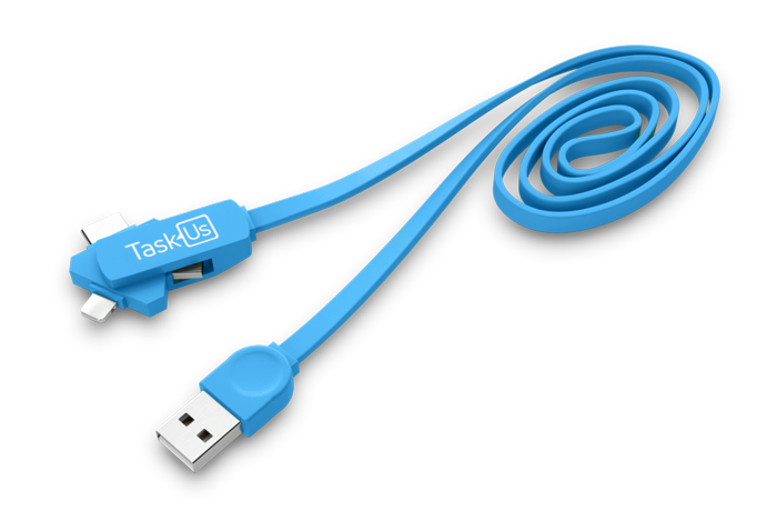 3in1 Twisting USB Charging Cable
